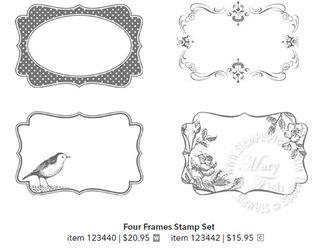 Four frames stamp set