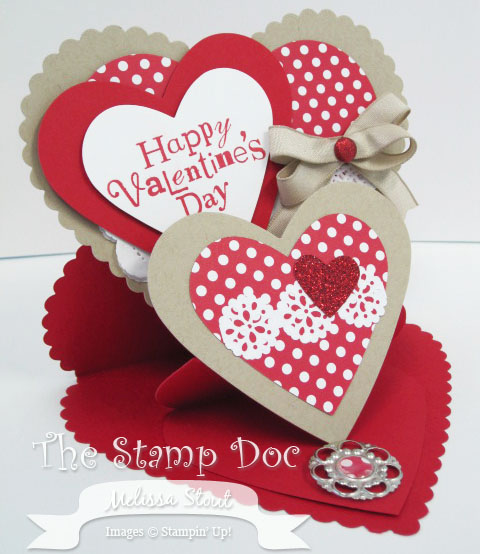 New Tutorial: Double Easel Valentine\'s Day Card - The Stamp Doc