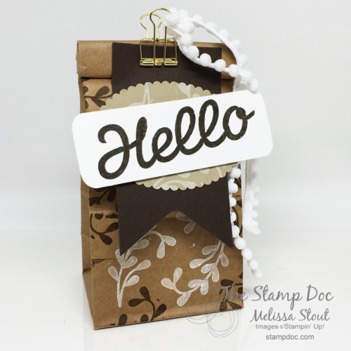 Hello Vertical Garden Gift Bag