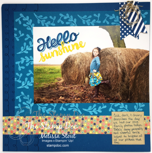 Hello Sunshine Scrapbook Layout