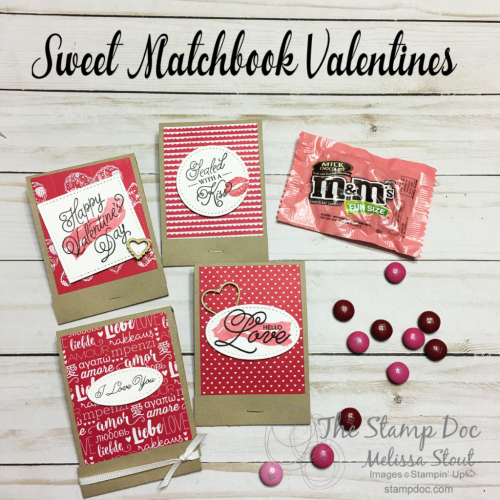 Sweet Matchbook Valentines