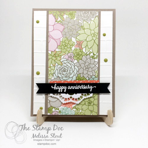 Succulent Anniversary Card