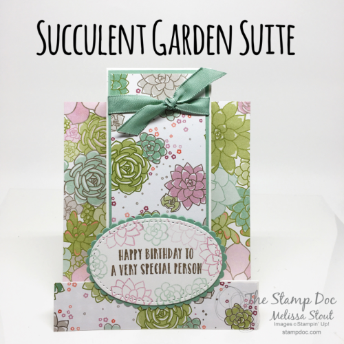 Succulent Garden Center Step Card
