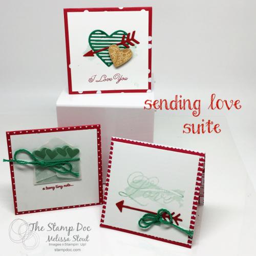 sending love mini notes