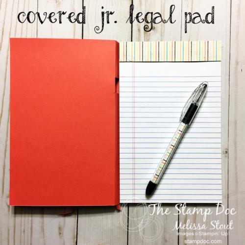 covered jr. legal pad